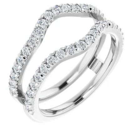 WBM0146 ~ MOISSANITE 0.60CT RING GUARD