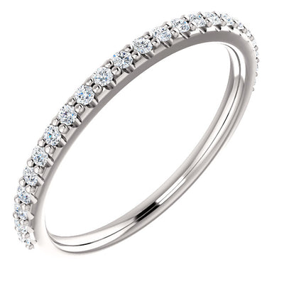 WBM0111 ~ MOISSANITE  0.23CT ROUND  WEDDING BAND