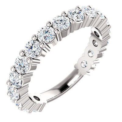 WBM0115 ~ MOISSANITE  1.87CT ROUND WEDDING BAND
