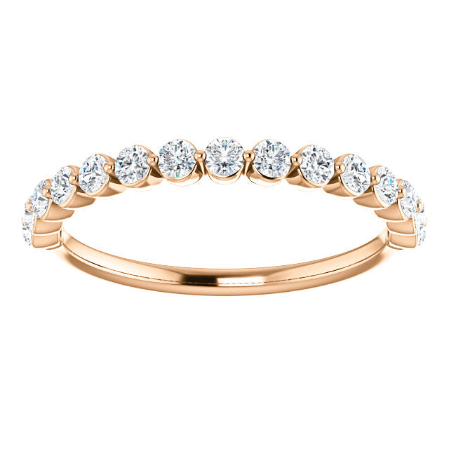 WBM0116-2.5 ~ MOISSANITE  0.66CT WEDDING BAND