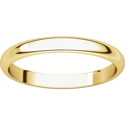 WB0130 ~ YELLOW GOLD PLAIN WEDDING BAND