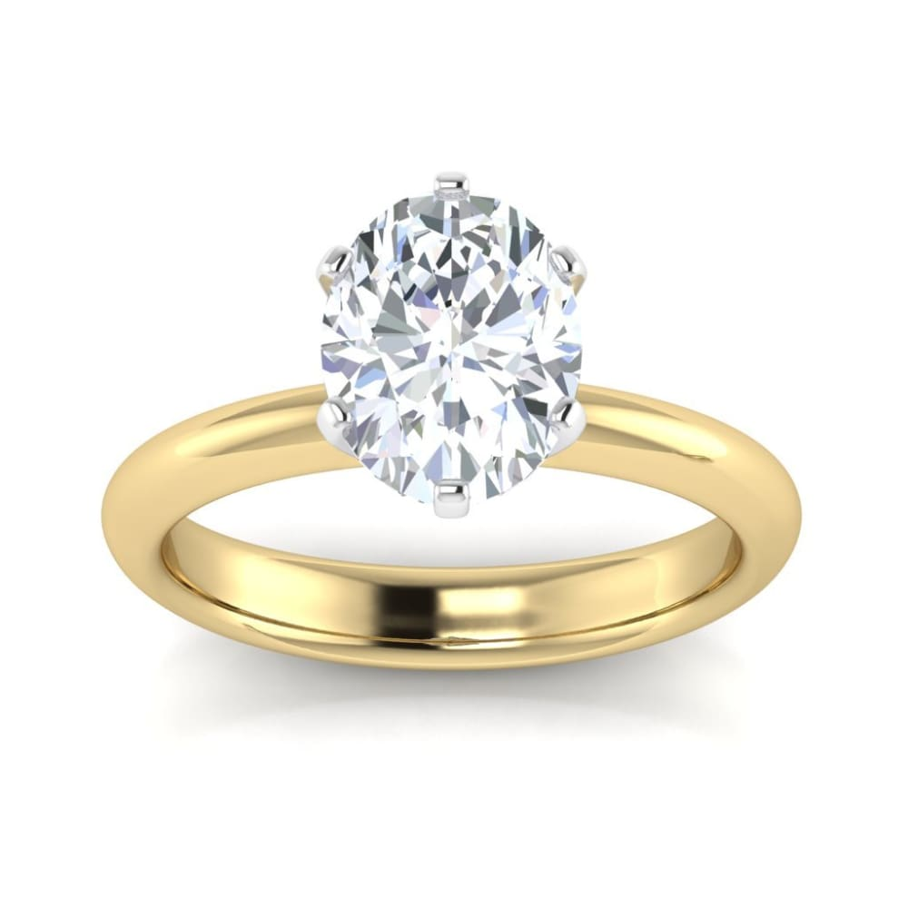 Alanna ~ 14Kyw 9X7Mm Oval Moissanite Solitaire - Ring