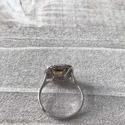 Amanda ~ 14Kyw 6.5Mm Cushion Moissanite Halo And Band - Ring