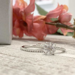 Amelia ~ 14Kw 7.5Mm Round Moissanite Engagement Ring - Ring