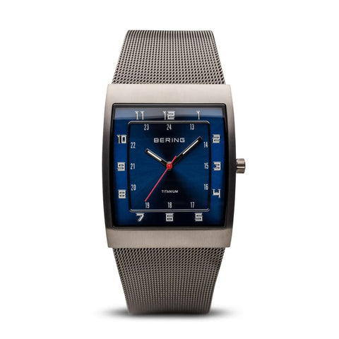 Bering Classic Mens Watch In Brushed Grey - 11233-078 - Watch