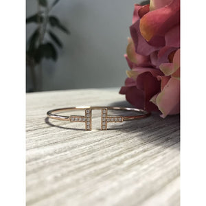 Bracelet ~ 0.20Ct Moissanite Flex Bangle - Bracelet