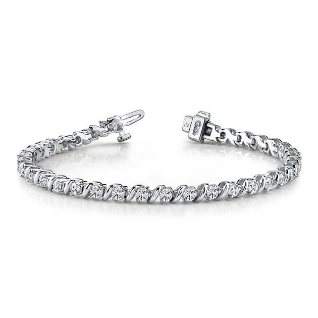 B014 ~ 1.62CT Moissanite S-Link Tennis Bracelet