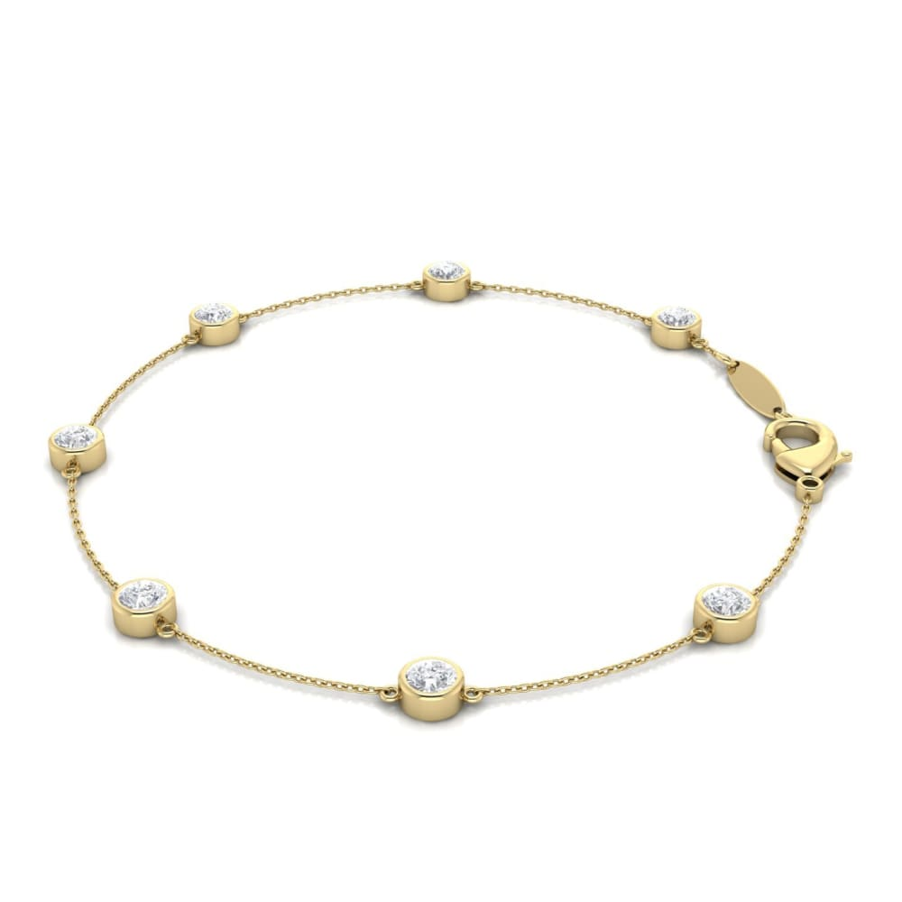 B012 ~ 7 Station Moissanite Bracelet