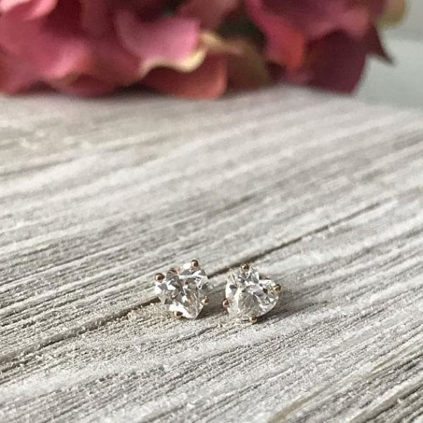 Earrings ~ 1.60Ct Heart Moissanite Earrings - Earrings