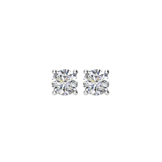 Earrings ~ 2.0Ct Moissanite 4 Prong Earrings - Earrings