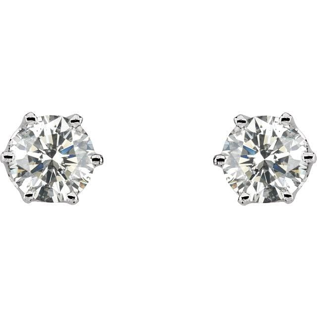 E119 ~ Moissanite ~ 2.0ctw Moissanite Crown Earrings
