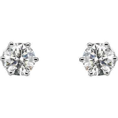 Earrings ~ 2.0Ct Moissanite Crown Earrings - Earrings