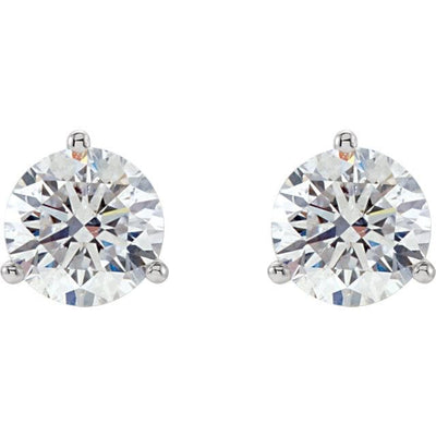 Earrings ~ 2.5Ct Moissanite Martini Earrings - Earrings