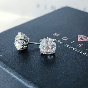 Earrings ~ 2.60Ct Cushion Moissanite Earrings - Earrings
