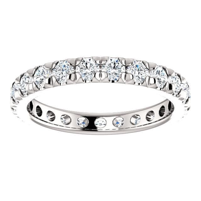 Eb013 ~ Moissanite 1.20Ct White Gold Eternity Band - Bands