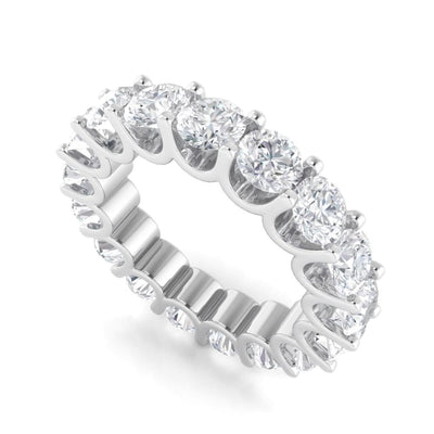Ebm011 ~ Moissanite ~ 5.28Ct Round Eternity White Gold Band - Bands
