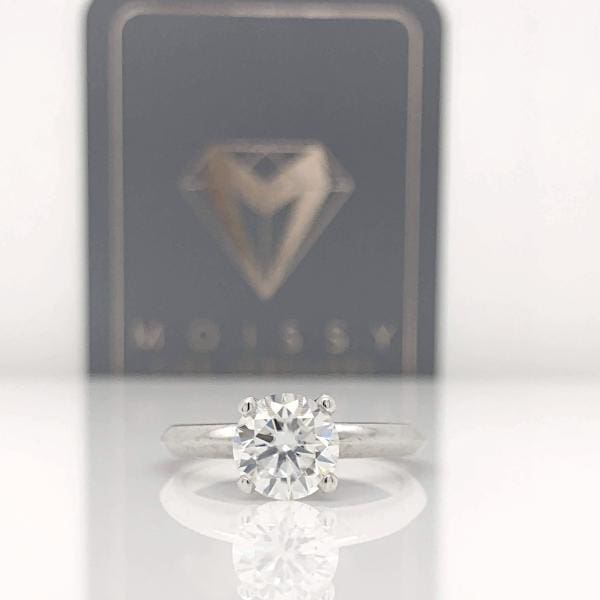 Erica ~ 14Kw 7Mm Round Moissanite Solitaire - Ring