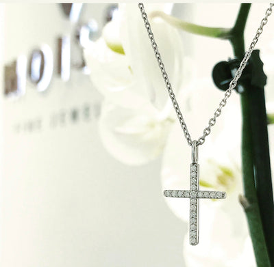 N203 ~ 0.20ctw Moissanite Cross Pendant
