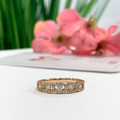 WB063 ~ DIAMOND ~ .46CT ROUND WEDDING BAND