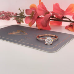 Rylee~ 14KR 6.5mm Round Moissanite Engagement Ring