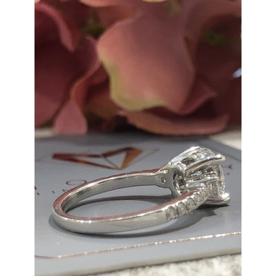 Khloe ~ 14Kw 7.5Mm Round Moissanite Diamond Band - Ring