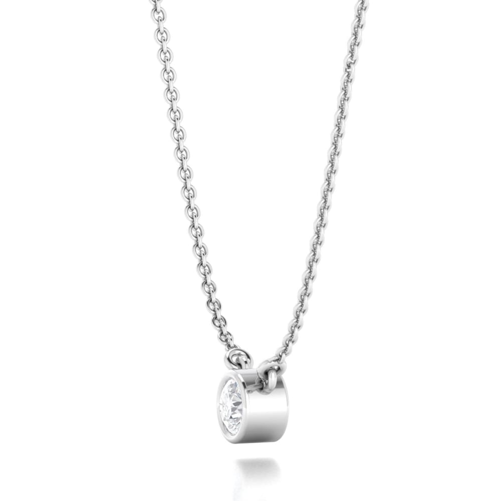 Necklace ~ Solo Moissanite Solitaire Pendant - Necklace
