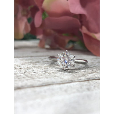 Reagan ~ 14K 7Mm Round 1.25Ct Moissanite Solitaire - Ring