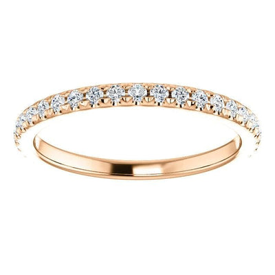 Wb072M ~ Moissanite ~ 0.40Ct Rose Gold Wedding Band - Bands