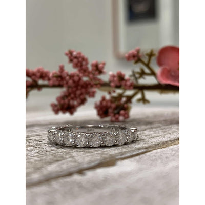 Wbm0090 ~ Moissanite ~ 1.70Ct White Gold Eternity Band - Bands