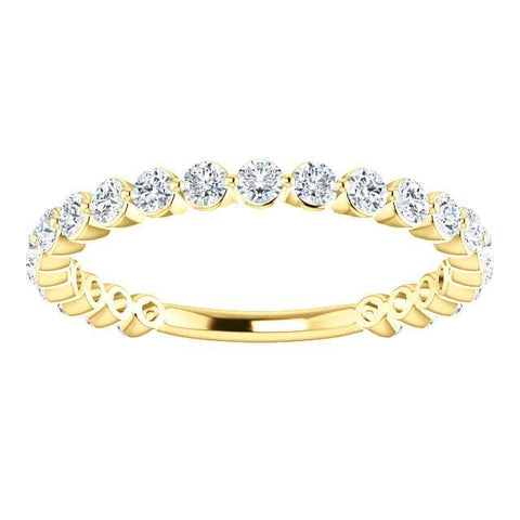 Wbm0091 ~ 14Ky - 0.69Ctw Single Prong Set Moissanite Band - Bands