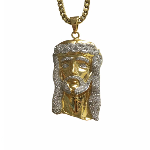 Gold Jesus Piece Chain