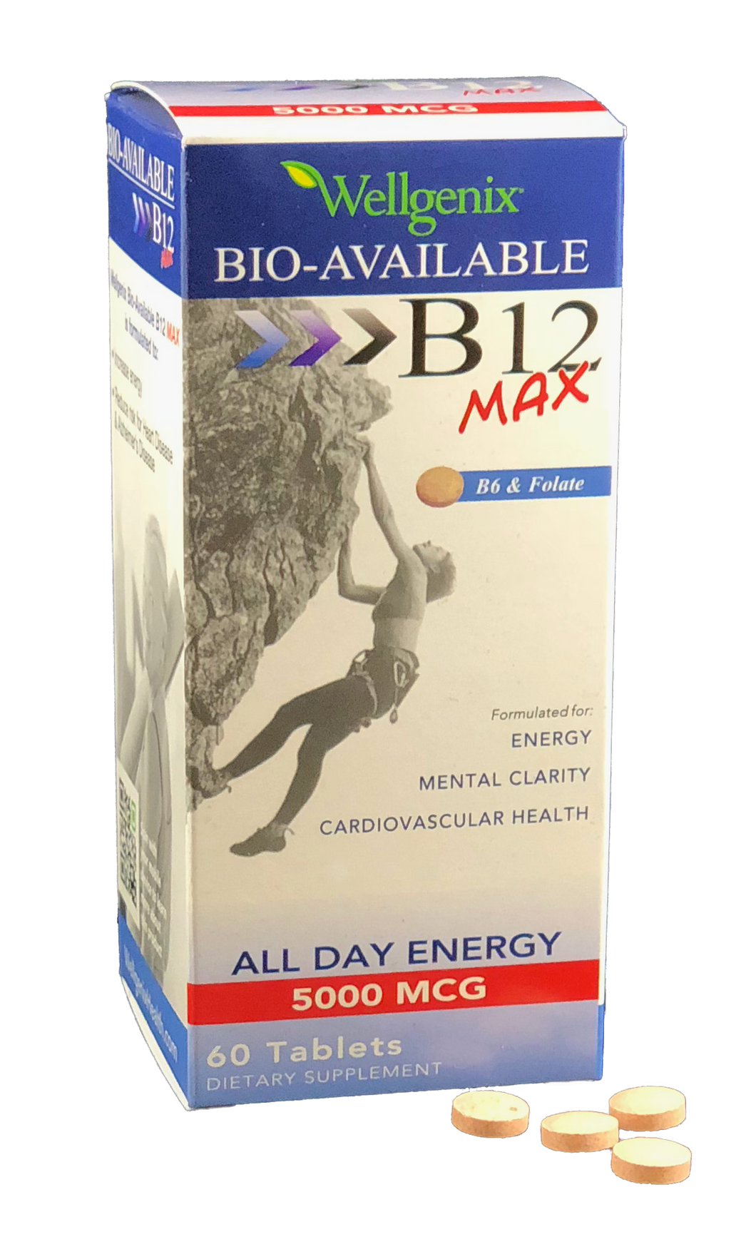 Bio-Available B12 MAX Fast Dissolve Tablets 60ct