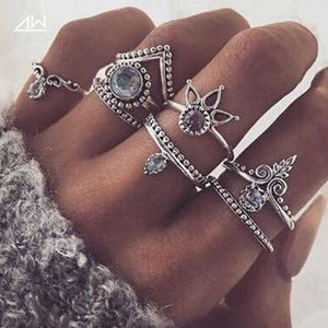 Bohemian Lucky Stackable Ring Set