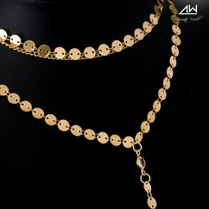 Adel Layered Sequin Necklace