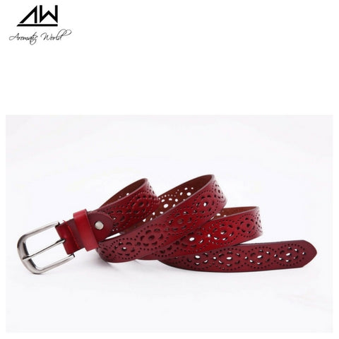 Naples leather belt