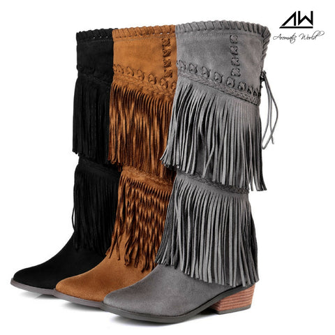 Michigan Fringe Boho Boots
