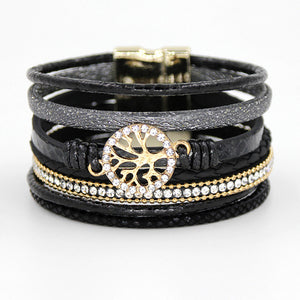 Multi-layer Rhinestone Bracelet