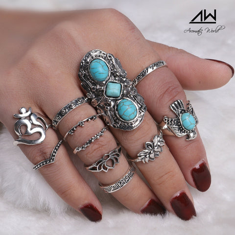 Turquoises Femme Rings Sets