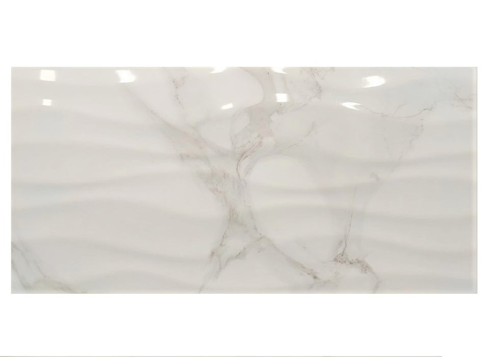 "Calacatta GR WAVE ATM Ceramic Wall Tile 12"" x 24"""