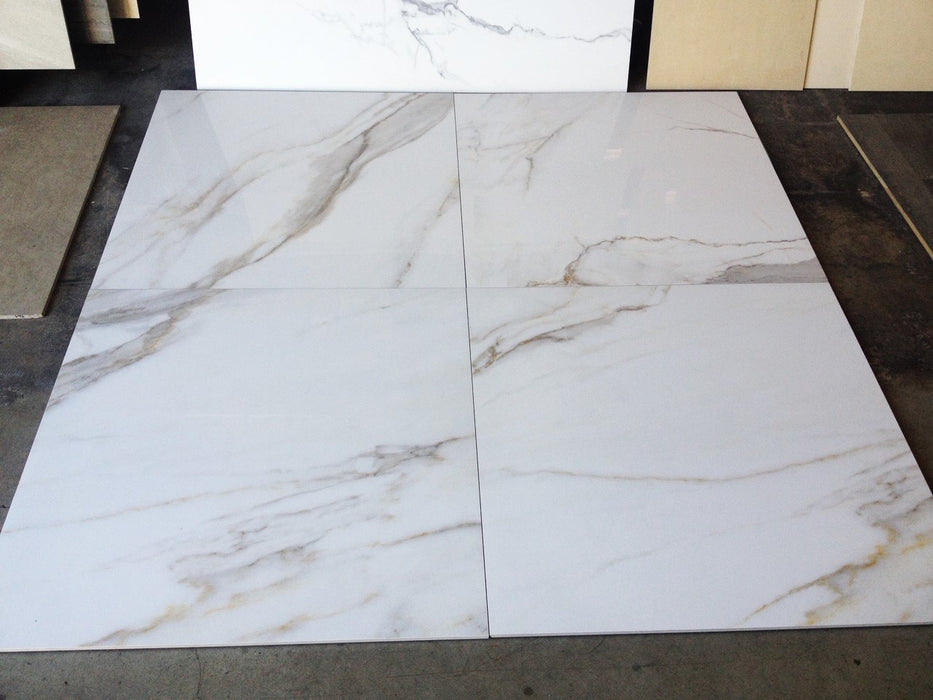 "Calacatta Gold BMB1540 Polished Porcelain Tile 32"" x 32"""