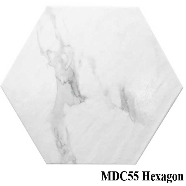 "Ottimo Mode Calacatta 11.8""x13.6"" Hexagon Matte Porcelain Tile - MDC55"