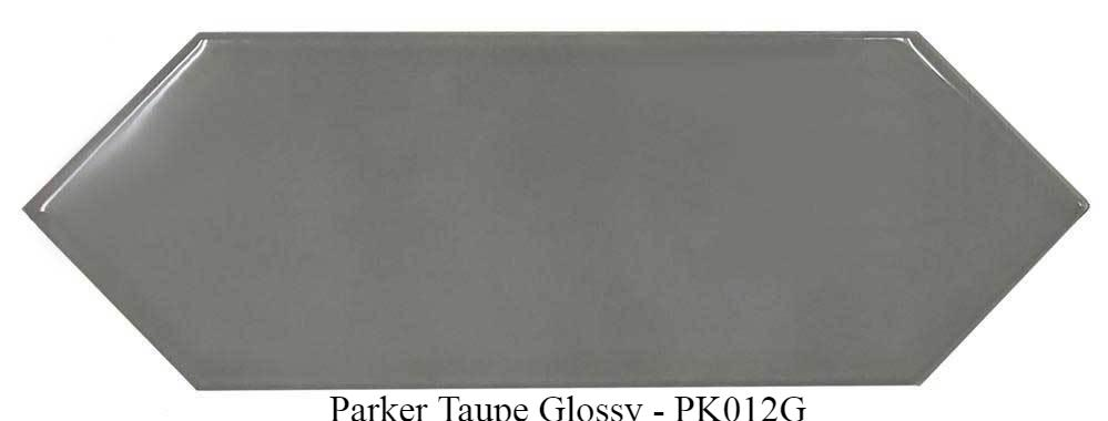 "Parker Taupe Glazed Ceramic Tiles 4"" x 12"" Glossy by Ottimo"
