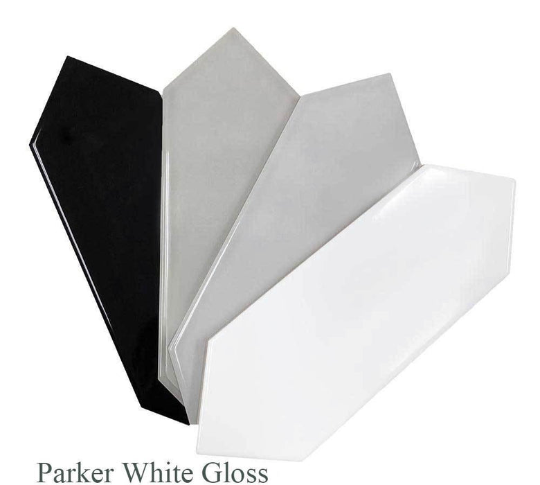 "Parker Glazed Ceramic Tiles 4"" x 12"" Glossy and Matte by Ottimo"