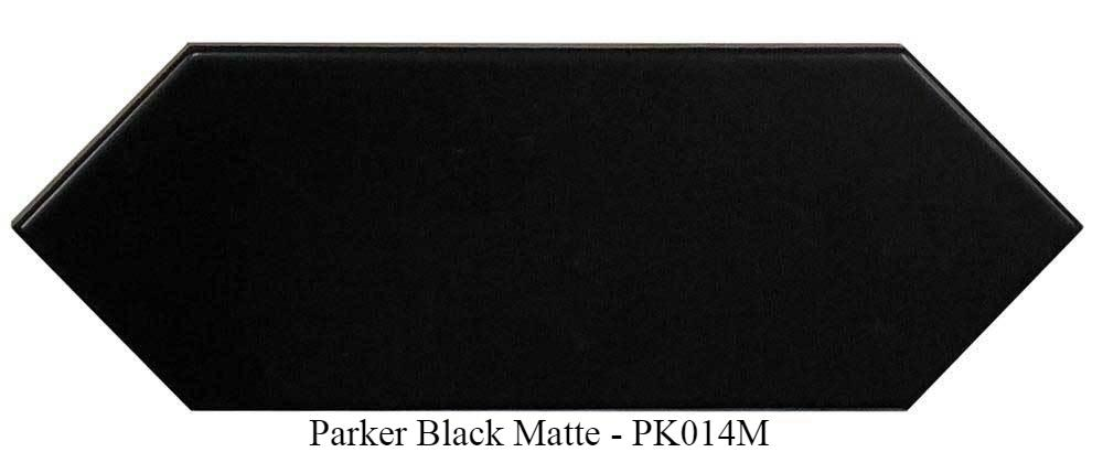 "Parker Black Matte Ceramic Tiles 4"" x 12"" Glossy by Ottimo"