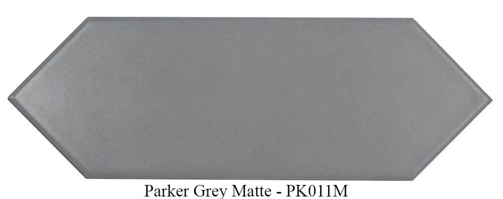 "Parker Grey Matte Ceramic Tiles 4"" x 12"" Glossy by Ottimo"