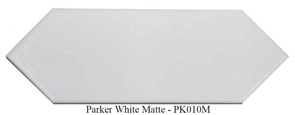 "Parker White Matte Glazed Ceramic Tiles 4"" x 12"" by Ottimo"