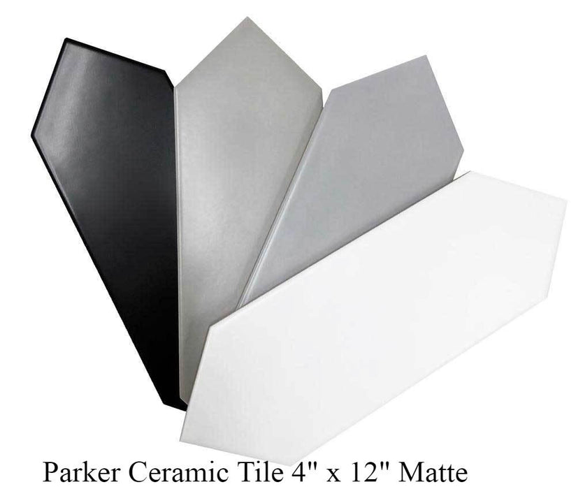 "Parker Matte Ceramic Tiles 4"" x 12"" Glossy and Matte by Ottimo"