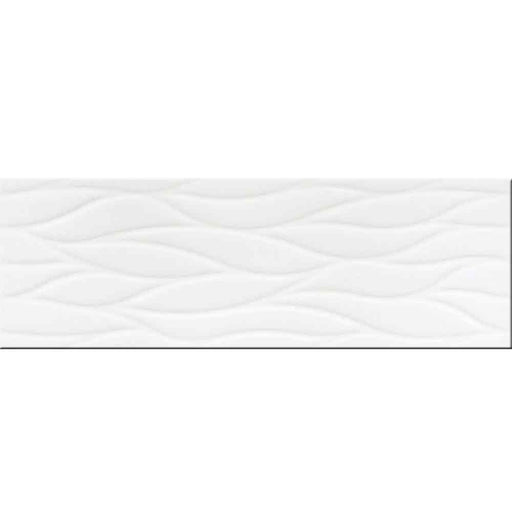 "Sea White Ceramic Wall Tile 12"" x 36"" Made in SPAIN"