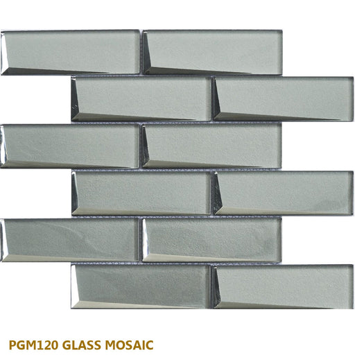 "PGMS120 Glass Mosaic 11.50""x 11.75""x 0.32""- sold by piece"