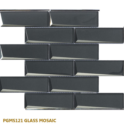 "PGMS121 Glass Mosaic 11.50""x 11.75""x 0.32""- sold by piece"
